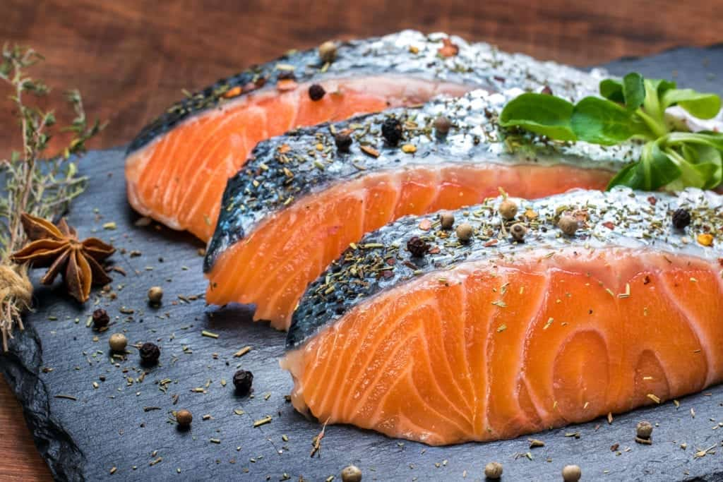 A picture of fish as a healthy macronutrient for muscle building