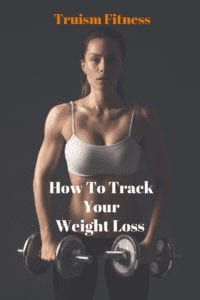 A pin from pinterest showing you how to chart your weight loss progress