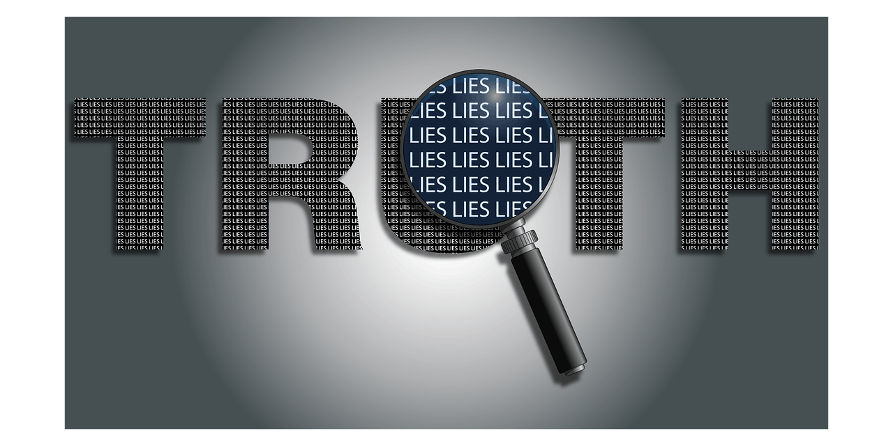 a picture of the word truth with a magnifying glass with word lies inside it, asking if supplements work