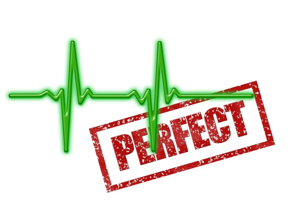 a digital heart beat on a white background with the word perfect in the middle. Pertaining to the best weighted vests