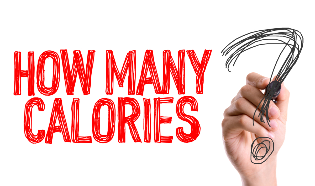 red text saying how many calories referring to how many calories you should eat while bulking and cutting