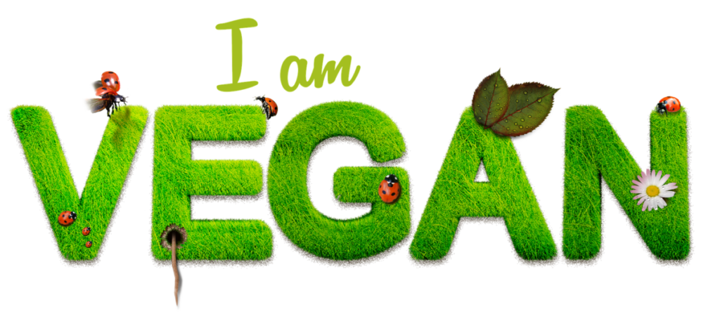 I am vegan written in letters made of green grass referring to vegan BCAAs